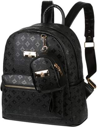 Fashionable General Small Backpack for Women Mini Black Quilted Fashion Backpacks Purse