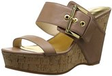 Nine West Women's Berko Leather Wedge Sandal
