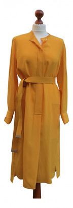 Hermes Yellow Silk Dresses