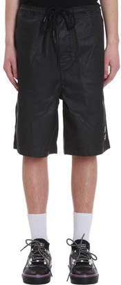 Marcelo Burlon County of Milan Logo Jns Shorts In Black Denim