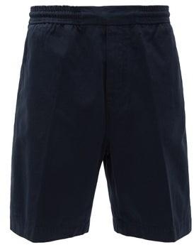 Acne Studios Elasticated-waist Cotton Track Shorts - Mens - Navy