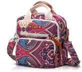Bestqueen Women's Fashion Handbags Big Flower Printing Satchel Multipurpose Students Backpacks
