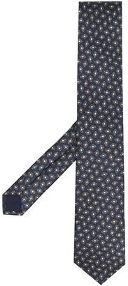 Corneliani Geometric-Pattern Silk Tie