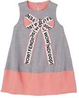 Fendi KIDS' BOW-APPLIQUÉD COTTON DRESS
