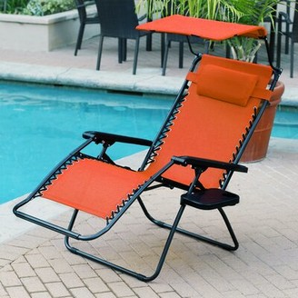 Zero Gravity Ragland Reclining Chair Latitude Run Color: Orange