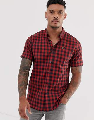 Voi Jeans short sleeved checked shirt-Red