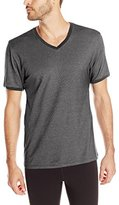 Kenneth Cole New York Men's Ribbed Pique V-Neck T-Shirt