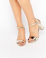 Carvela Ankle Strap Mid Flared Heeled Sandals