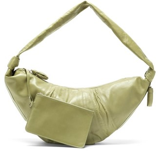 Lemaire Croissant Large Leather Bag - Light Green