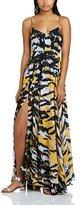 Religion Women's Medium Maxi Empire Animal Print Sleeveless Dress