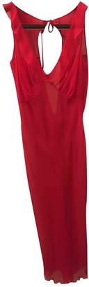 Alessandro Dell'Acqua Red Silk Dress for Women