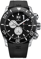 Edox Men's 10020 3 NIN3 Chronoffshore Analog Display Swiss Quartz Black Watch