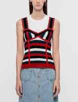 Sjyp Stripe Bustier Knit Top