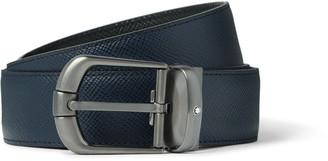 Montblanc 3.5cm Reversible Cross-Grain Leather Belt