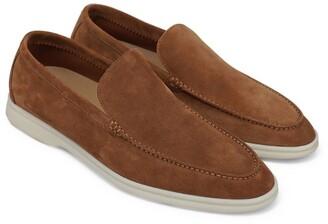 Loro Piana Suede Summer Walk Loafers