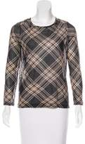 Dries Van Noten Plaid Long Sleeve Top
