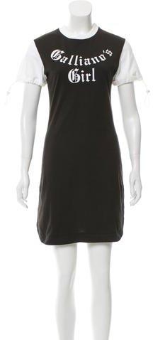John Galliano Printed Mini Dress