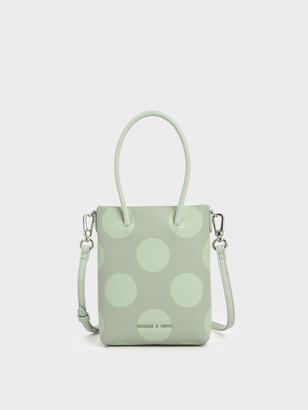 Charles & Keith Girls' Dot Motif Tote Bag