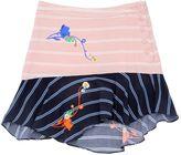 Preen Mini Ellie Striped Printed Viscose Skirt