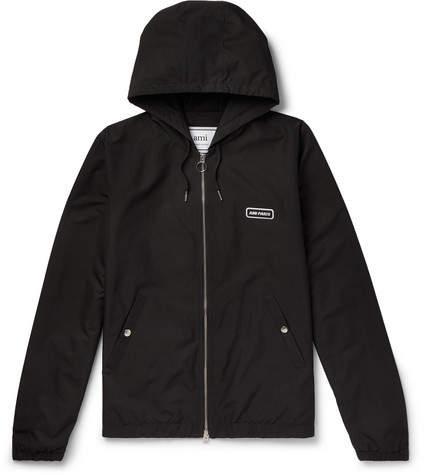 Ami Logo-Detailed Tech-Jersey Jacket