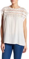 Willow & Clay Cap Sleeve Crochet Shirt