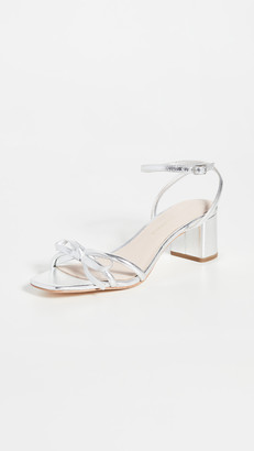 Loeffler Randall Gracie Skinny Strap Bow Low Heel Sandals