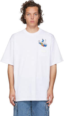 GCDS White Donald Duck Pocket T-Shirt