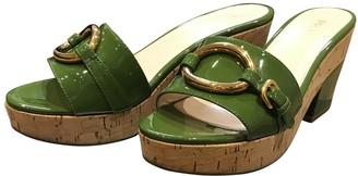 Prada Green Patent leather Sandals