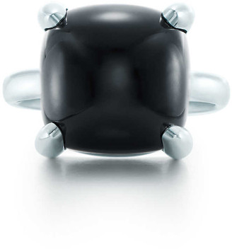 Tiffany & Co. Paloma's Sugar Stacks ring in sterling silver with a black onyx