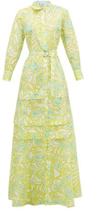 Evi Grintela Daisy Floral-print Cotton-poplin Maxi-dress - Yellow Print