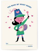 Minted Little Drummer Girl Classroom Valentine's Day Cards