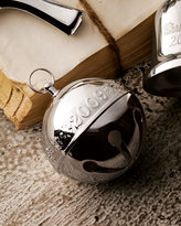 Silver-Plated Sleigh Bell Christmas Ornament