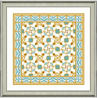 Vintage Print Gallery Exotic Opulent Tiles Iv Framed Graphic Art