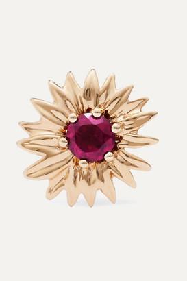 Aurélie Bidermann 18-karat Gold Rhodolite Garnet Earring - one size