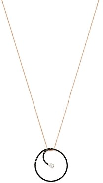 Own Your Story 14K Rose Gold Day to Night Black & White Infinity Pendant Necklace, 18