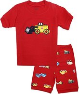 Kidsmall Baby Boys Girls Summer Pajama Set Sleepwear 2T-7T