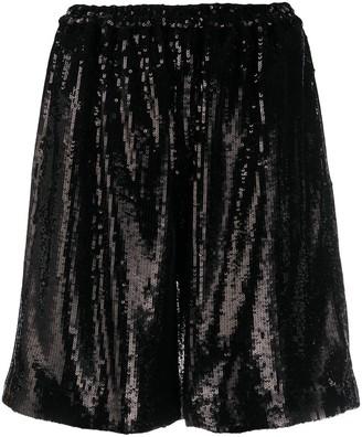 No.21 sequin-embellished shorts