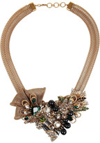 Swarovski Bijoux Heart Empire gold-plated crystal necklace