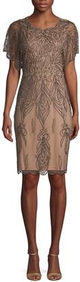 Adrianna Papell Embellished Mini Sheath Dress