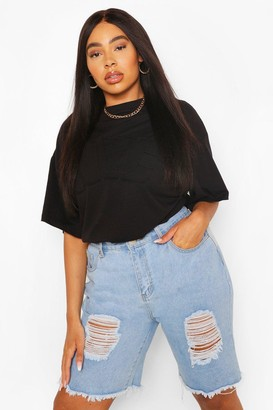 boohoo Plus Nyc Embroidered Graphic T-Shirt