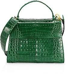 Nancy Gonzalez Women's Large Lexi Crocodile Top Handle Bag