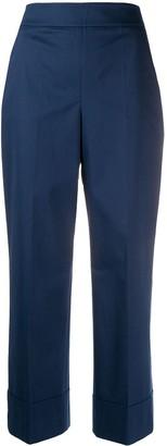 Incotex Cropped Wide-Leg Trousers