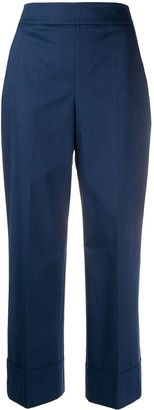 Incotex cropped wide-leg trousers