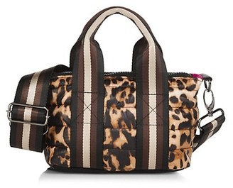 Think Royln Lil'Mama Leopard-Print Quilted Tote