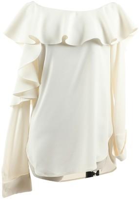 Oscar de la Renta Ecru Silk Top for Women