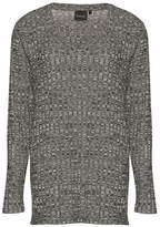 B. Young Salomers Long Sleeve Rib V-Neck Sweater