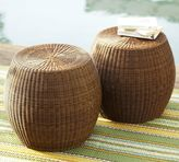 Pottery Barn Palmetto All-Weather Wicker Accent Table - Honey