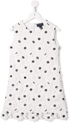 Oscar de la Renta Kids floral embroidered shift dress