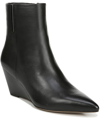 Franco Sarto Leather Wedge Booties - Athens