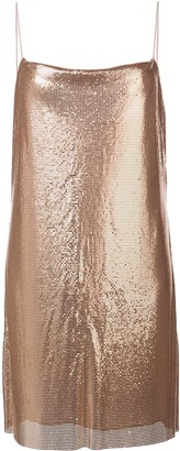 Alice + Olivia Harmony chainmail slip dress